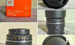 Sony 85mm A mount lens with E mount adaptor. Rfs: need