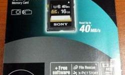 brand: Sony capacity: 16gb class 10 compatible - with
