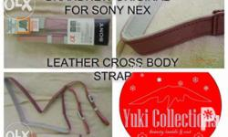 Sony Nex Leather Cross Body Strap. Never been used. I