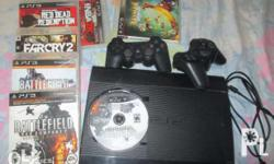 For Sale : Sony PS3 comes with 6 Game Discs & 2