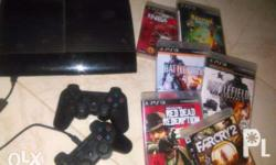 Sony PS3 included 6game disc & 2 wireless joystick...We