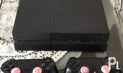 Sony Ps4 1tb (slightly used) 2 controllers No box bc