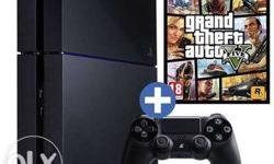 Sony ps4 with games (gta 5, call of duty ghost, nba