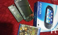 For sale or trade Ps Vita Crystal black Please read!