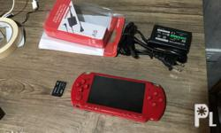 Rush! sony Psp slim red Upgraded to latest version