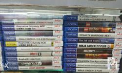 Sony PSVita 3DS Games, Unit & Accessories STORE NAME -
