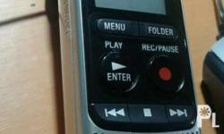 Voice recorder used in documentation, interviews. Mp3