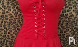 For sale spaghetti red dress brandnew but no more