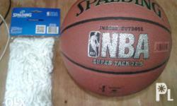 Orig spalding ball and spalding net.. Good condition..