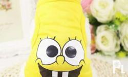 SPONGE BOB VEST For Sale PET CLOTHES For small breed of
