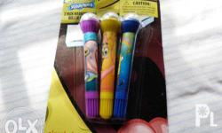Spongebob, Patrick and Gary 3 Packs Markers with Roller