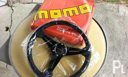 Momo, sport steering wheel 13.5 in.dia.,color black, w/