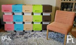 STACKABLE STORAGE BINS P600 for 1 pc Neat storage or