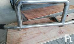 Stainless steel bullbar 2nd hand. Been used for 1 year