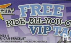 Star City Ticket VIP Ride All U CAn. One Ticket