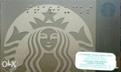 Starbucks card with Starbucks logo and Braille (from