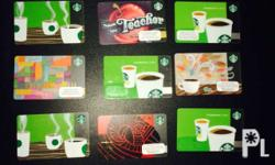 starbucks discontinued cards. assorted for sale. good