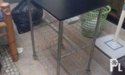 Steel work table Thick Plyboard with black vinyl ang