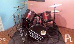 Steely Drum Set Complete All Cymbals replaced with