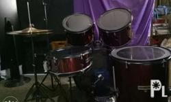 "Selling my pre loved drumset ksama cymbals ""as is"""