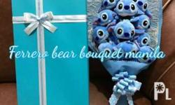 Stitch bouquet 800.00 1 dozen 1000.00with box :)