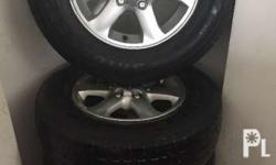 Stock mags and tires coming from isuzu alterra 2009