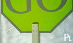 Brand New Stop and Go Sign Plastic - 380.00 - battery