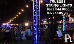 String Lights for rent. Our company is DTI and BIR