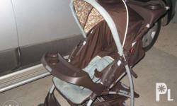 graco, color brown and sky blue, used this for only