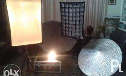 Studio Lights Package Never Been Use even once (pls see
