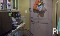 Semi furnished unit includes cabinets, closet, bed,