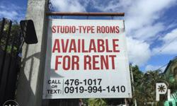 Studio type rooms for rent. Approximately 22 sqm. With