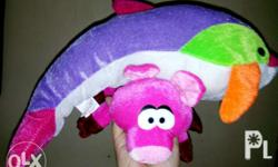 Brand new Stuff Toy Dolphin and Pig Both for only 600
