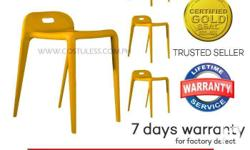 Sumo SS-77YLW Yellow Full PP Plastic Stacking Stool