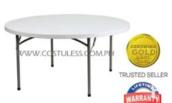 Sumo ST-60RS Round Top Folding Table (White) Promo