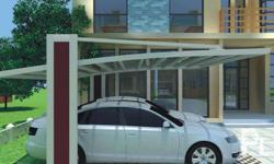 Sun Life Polycarbonate Cable-stayed Carport Usage:An