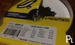 Front Sprocket 13T Part # 20613 (Hon-Suz-Yam) See
