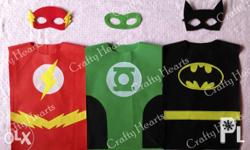 Made to order superhero top with mask, party favors for