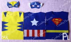 Super Hero Costume Tops with mask