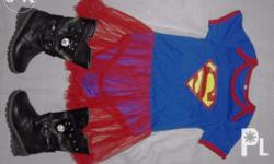 selling my supergirl costume with boots for only