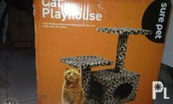 Sure Pet Cat Playhouse bnew/ dented box A great play