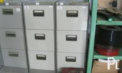 For sale Surplus Gray Vertical Cabinet 3 Drawers