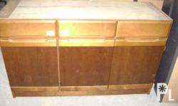 Description for sale Surplus Wood Cabinet Imported from