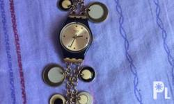 Swatch watch bracelet, charm watch Very nice in actual,