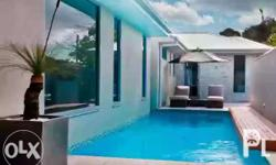 The innovative pool design sees the L-Shaped pool