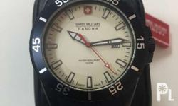 Authentic swiss military watch with international