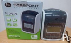 STARPOINT T7 BUNDY CLOCK with FRee Time cards Rated