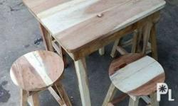 We do made to order of different dining tables, stools,