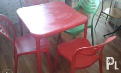 for sale 1 set table plus 4 pcs chair. good as new. i