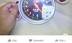 For sale auto gauge tachometer with shift light good